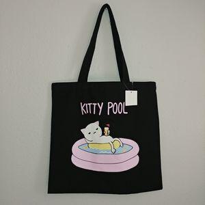 NWT Kitty Pool Tote Bag 15x15 Cotton Blend